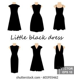 Set. Little black dress. For your design.