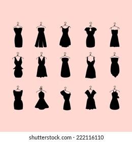 set of little black dresses