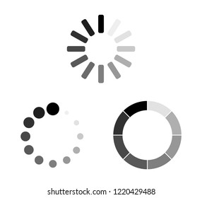 Set Loading icons. Load. load icons. White background. Loading vector icon Eps10
