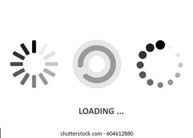 Set Loading icons. White background