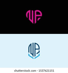 Set logo design, Inspiration for companies from the initial letters of the NP logo icon. -Vectors