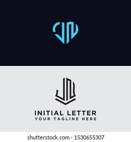 Set logo design inspiration for the company from the initial letter logo icon JN. -Vectors