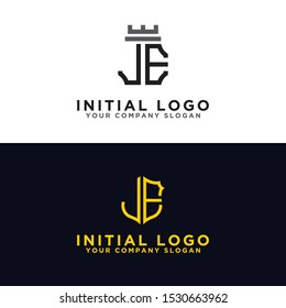 Set logo design inspiration for the company from the initial letters JE logo icon. -Vectors