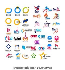 set logo full color logo design template