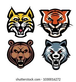 Set logo head wildlife template