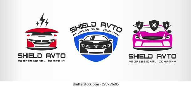Set Logo Sport Car Emblems Design Stock Vector Royalty Free