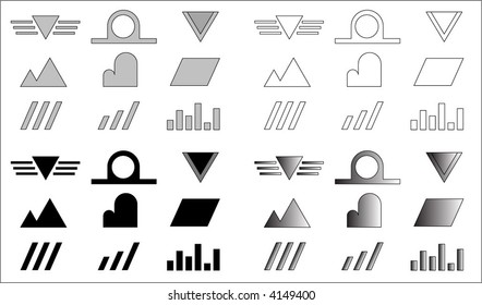 Set of logo vector basics
