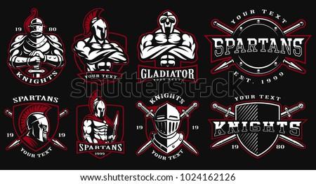 Set of logos badges