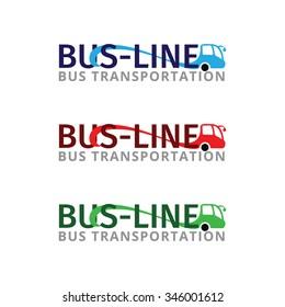 Set of logos for bus transportation