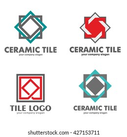 Set of logos of ceramic tiles