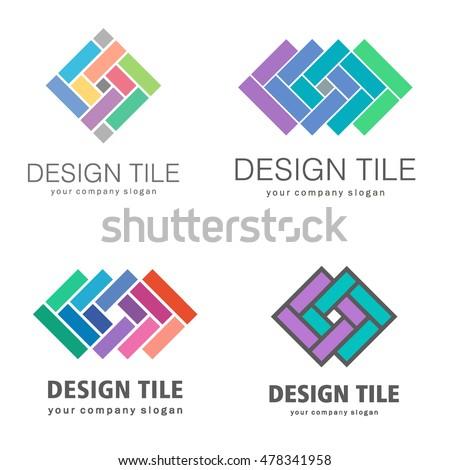 set logos ceramic tiles design tile stock vector royalty free rh shutterstock com tile logos free tile logon