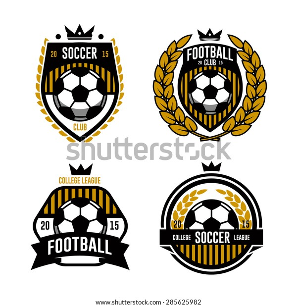 Logos Embleme Zum Thema Und Designkonzept Stock Vektorgrafik
