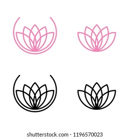 a set of lotus flower icons