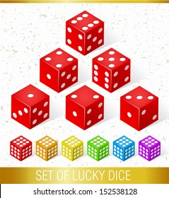 Set of Lucky Dice. Isolated elements.