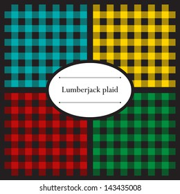 Set of lumberjack plaid seamless patterns for your design
