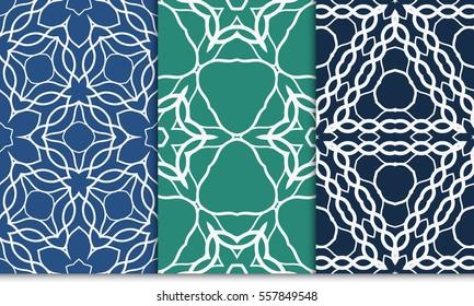 set of luxury floral seamless pattern. modern fashion design. vector illustration. for invitation, wallpaper