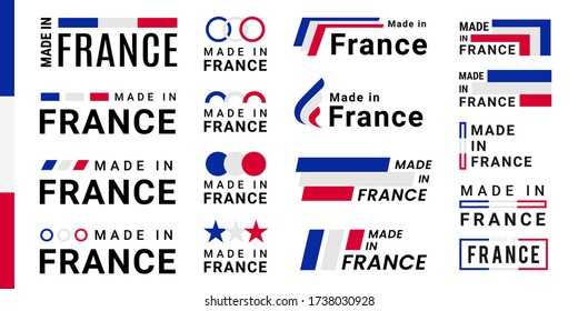Set of made in france logotype and vector labels