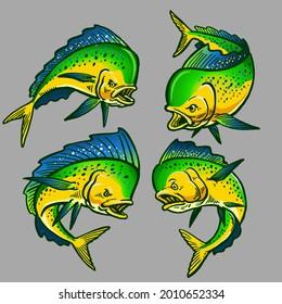 set of mahi-mahi gamefish bundle collection