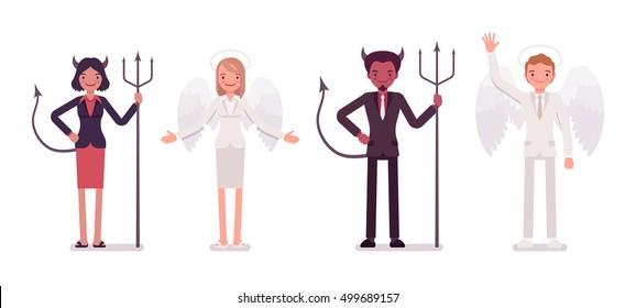 Angel Devil Images, Stock Photos & Vectors | Shutterstock