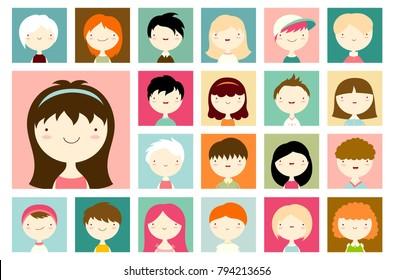boy and girl cartoon faces images stock photos vectors shutterstock