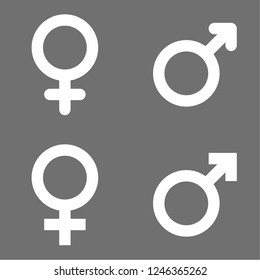 Set of male and female symbols