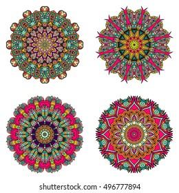 Set of mandalas. Vector mandala collection for your design. Unusual mandalas can be used for mandala design or mandala art.