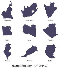 set of maps of Northen Africa