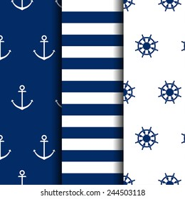 set of marine backgrounds