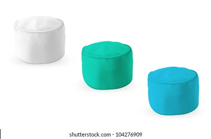 Set of medical hats isolated on white.