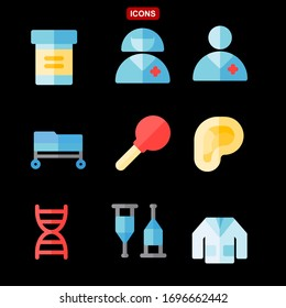 Set of Medical and Health icons. Hospital medical devices.