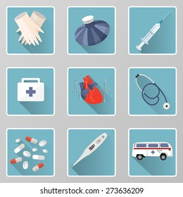 set of medical icons can be used for websites or other types of design