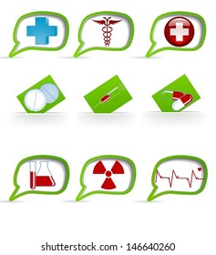 Set of medical icons for your idey.EPS 10