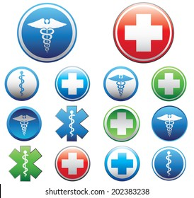 Set of medical symbols. Vector illustration.