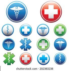 Set of medical symbols. Vector illustration.