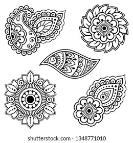 Henna Flower Images, Stock Photos & Vectors | Shutterstock