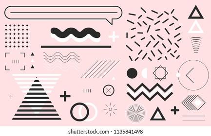 Set of Memphis Design Element Series