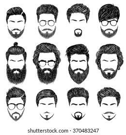 Mens Hairstyles Illustration Images Stock Photos Vectors