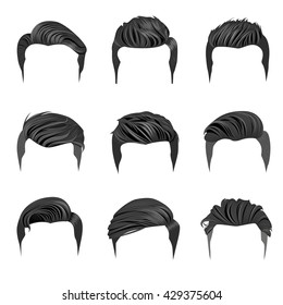 Set of Men\u0027s Hairstyles.