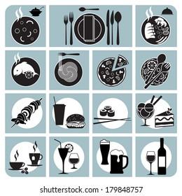 Set of menu restaurant icons. Vector illustration