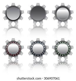 Set of metal gears