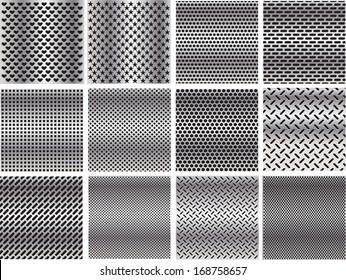 Set metal grids.
