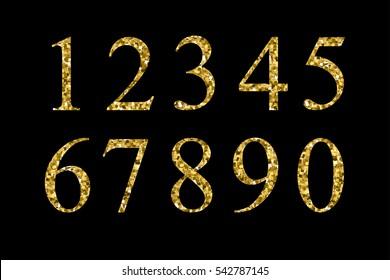 Set of metallic numbers.Vector golden numbers.