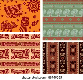 Set of Mexican Seamless Tiles