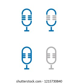 a set of microphone icons