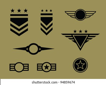 Set of Military Badge/ Symbols.