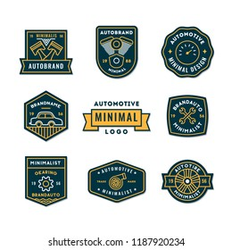 Set of minimal auto logo or Icon in premium quality