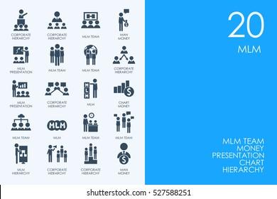 Set of MLM icons