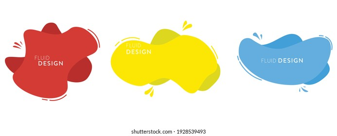 Set of modern abstract graphic elements. fluid shapes. Templates for logo design, flyers, or presentations. Vector.