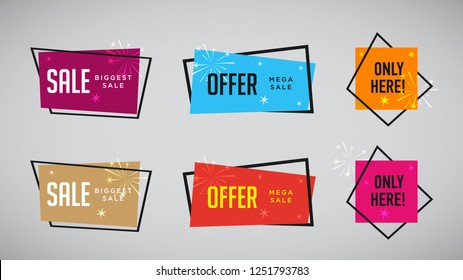 e92003f891 Set of modern abstract vector banners. Discount offer price label