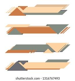 Set Modern Banner of Lower third
